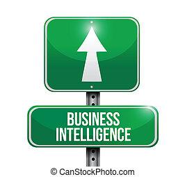 Geschäftsgeheimdienst-Straßenzeichen Illustration