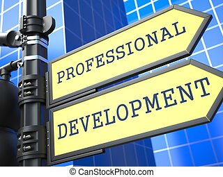 Geschäftskonzept. Professionelle Entwicklungszeichen.