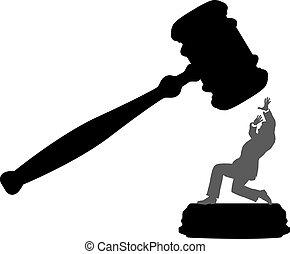 Geschäftsleute, die Gefahr laufen, vor Gericht Unrecht zu bekommen