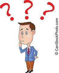 Geschäftsleute mit Fragezeichen