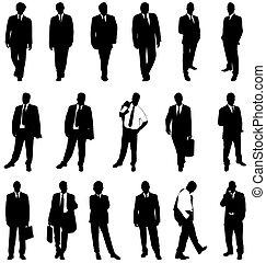 Geschäftsleute schilhouettes
