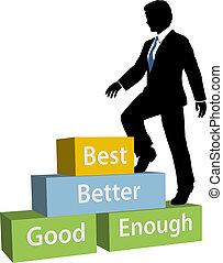 Geschäftsleute steigen auf den besten Abschlussball