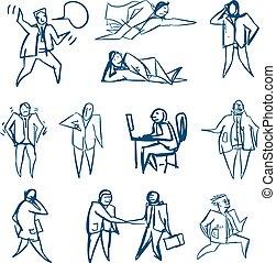 Geschäftsleute zeichnen.
