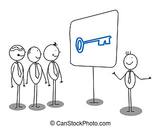 Geschäftsmännerpräsentation