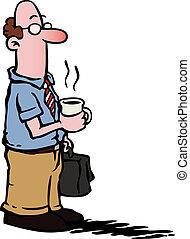 Geschäftsmann / Angestellte trinken Kaffee