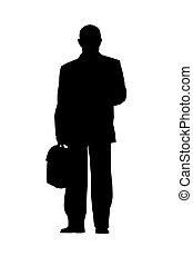 Geschäftsmann Silhouette isoliert