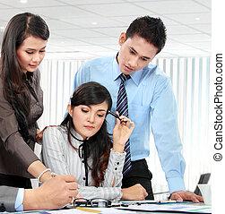 Geschäftsteam-Meeting