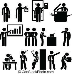 Geschäftsunternehmer-Arbeit