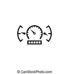 Geschwindigkeitsmesser und Armaturenbrett