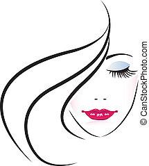 Gesicht der hübschen Frau Silhouette