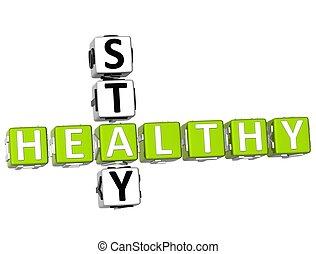 gesunde, kreuzworträtsel, 3d, aufenthalt