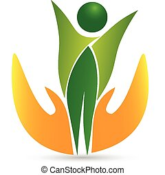 Gesundheits-Lebens-Ikonen-Logo-Vektor.