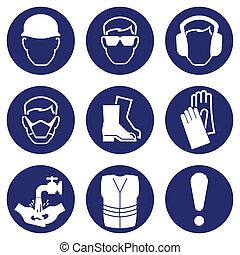 Gesundheits- und Sicherheits-Ikonen