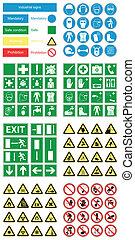 Gesundheits- und Sicherheitszeichen für Gefahrenstoffe