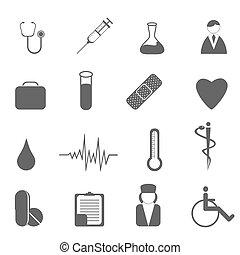 Gesundheitsfürsorge und medizinische Symbole