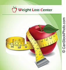 Gewichtsverlust mit Apfel