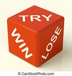 Gewinnen Sie rote Würfel mit Glücksspiel und Glück.