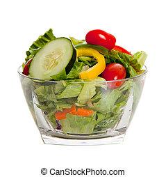 geworfen, gemuese, verschieden, salat