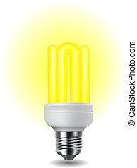 glänzend, energie, licht, einsparung, zwiebel