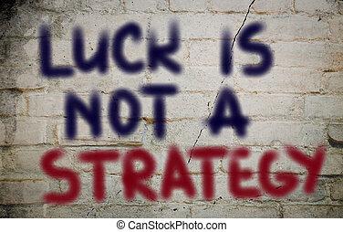 Glück ist kein Strategiekonzept.