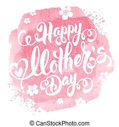 glücklich, tag, mütter