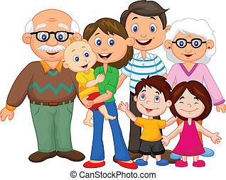 Glückliche Cartoon-Familie.