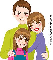 Glückliche Familienliebe