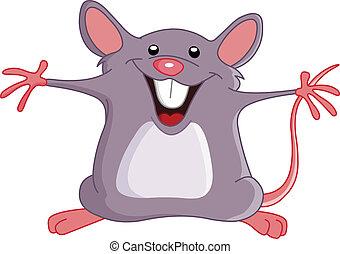 Glückliche Maus