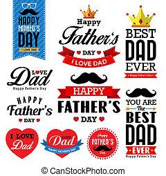 Glücklicher Vatertag typografischer Hintergrund