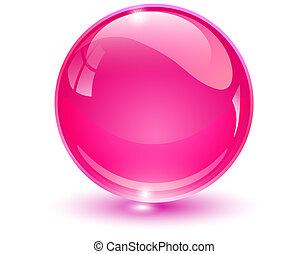 Glaskugel rosa.
