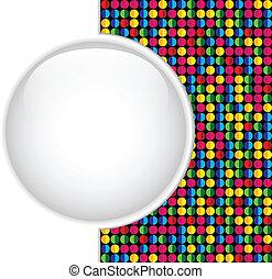 Glasscherbenknopf farbenfrohe Punkte