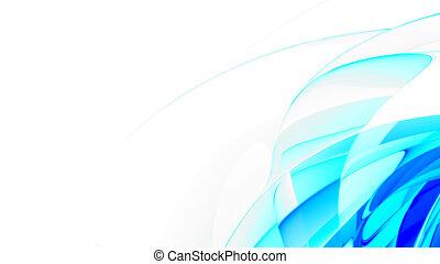 Glattblau abstrakt