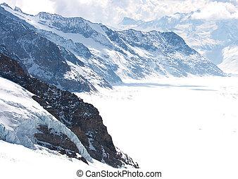 gletscher, schweiz, groß, aletsch
