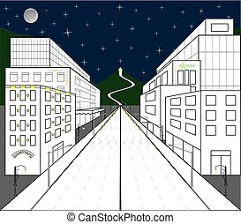 Glimpse der Stadt