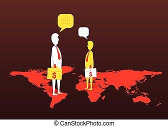 Global Business Deal Konzept Design.