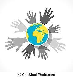Global Business Konzept Design.