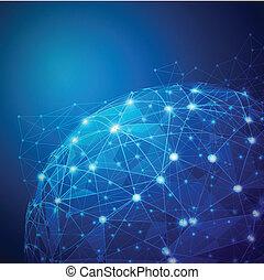 Global Digital-Mesh-Netzwerk, Vektor-Anzeigen.