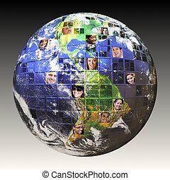 global, leute, vernetzung