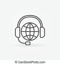 Global Support Line Icon