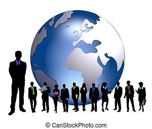 Globale Geschäftsleute