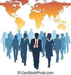 Globale Mitarbeiter der Humanressourcen arbeiten zusammen
