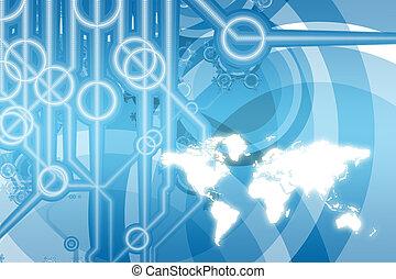 Globale Unternehmenstechnologie abstrakt