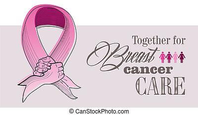 Globales Brustkrebsbewusstseinskonzept illustriert die Akte EPS10.