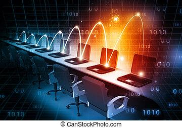 Globales Computernetzwerk.
