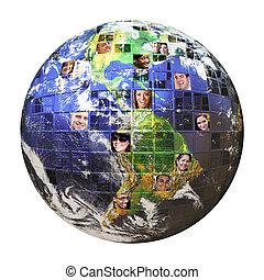 Globales Netzwerk von Menschen