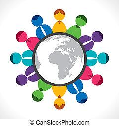 Globales Treffen oder Kommunikation.