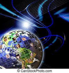 Globales weltweites Netzwerk von Menschen