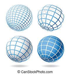Globe-Designelemente
