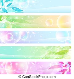 Glossy-Banner farbenfroh, Headers