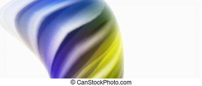 Glossy bunte Flüssigwellen abstrakter Hintergrund, moderne Techno-Linien